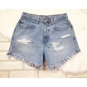 Polo Ralph Lauren Vintage Cut Off Jean Shorts 6